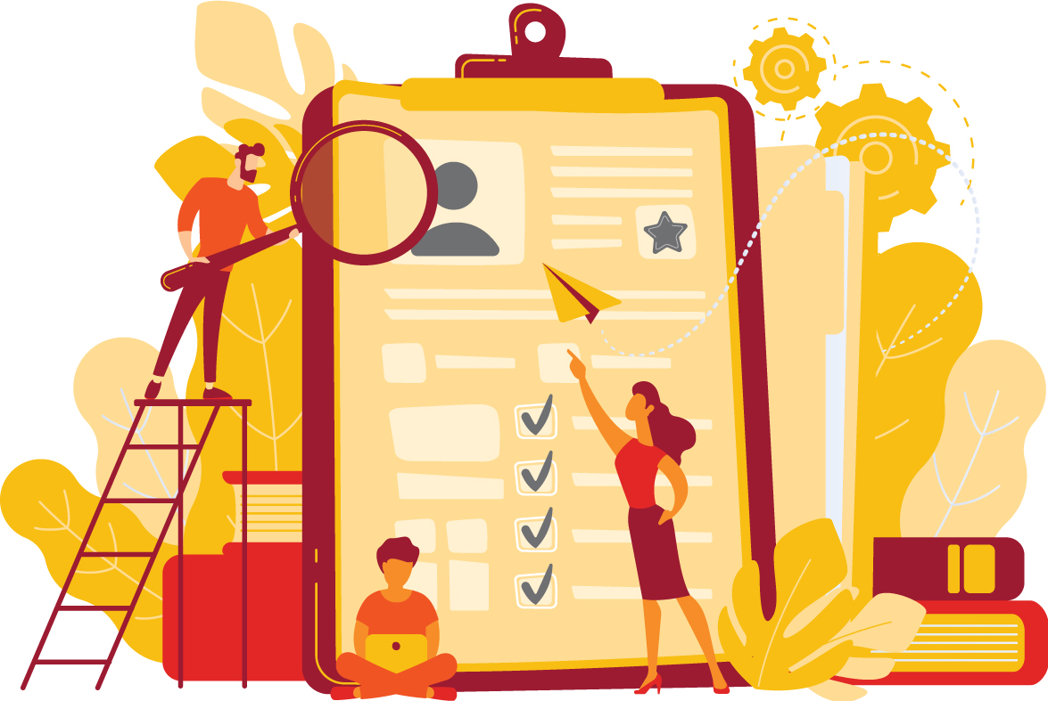illustration recherche d'emploi